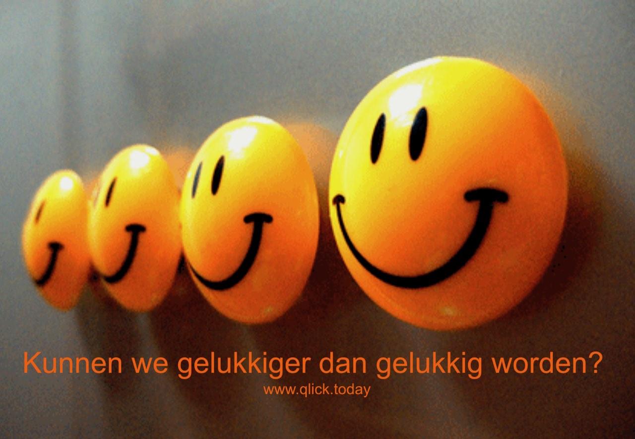 Kunnen we gelukkiger dan gelukkig worden?